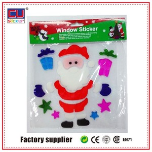 OEM christmas jelly windows stickers gel clings,decal jelly window sticker