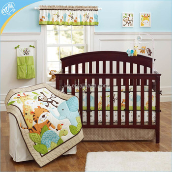 Baby Nursery Jungle Monkeys Patchwork Crib Bedding Set S Sets Product On Alibaba