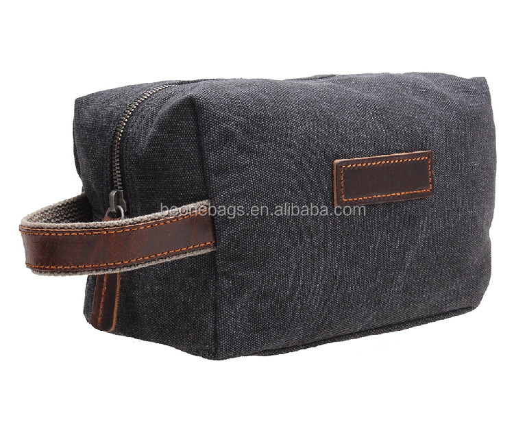 OEM Factory Custom Travel Dopp Kit Men Canvas Toiletry Bag