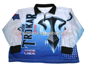 Sublimated custom fishing tournament jersey shirt buy for Tournament fishing shirts