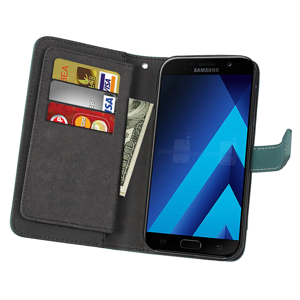 US $13 99 |sFor Samsung Galaxy A7 2017 A720 Case Luxury leather  Multifunction 9 cards Wallet Flip Stent case For Samsung A7 2017 A720  cover-in Flip