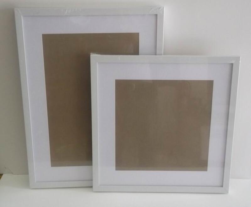 Doen Op Maat 20x20 16x16 Wit Vierkant Fotolijstjes Met Matten