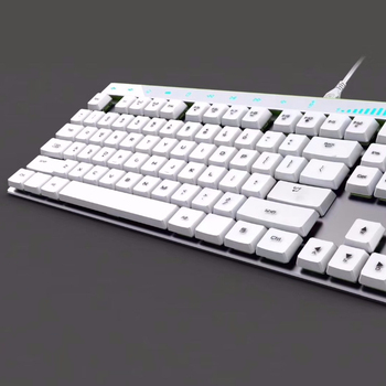 Best Quality Aluminum RGB Backlit 87 Keys Portable Russian Spanish Mechanical Gaming Keyboard