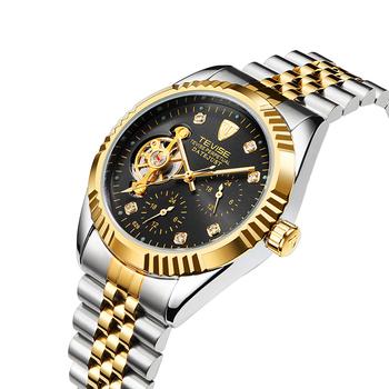 7c4380ddd2d4 Original tevise hombres reloj de la marca de moda de lujo mecánico  automático reloj de acero
