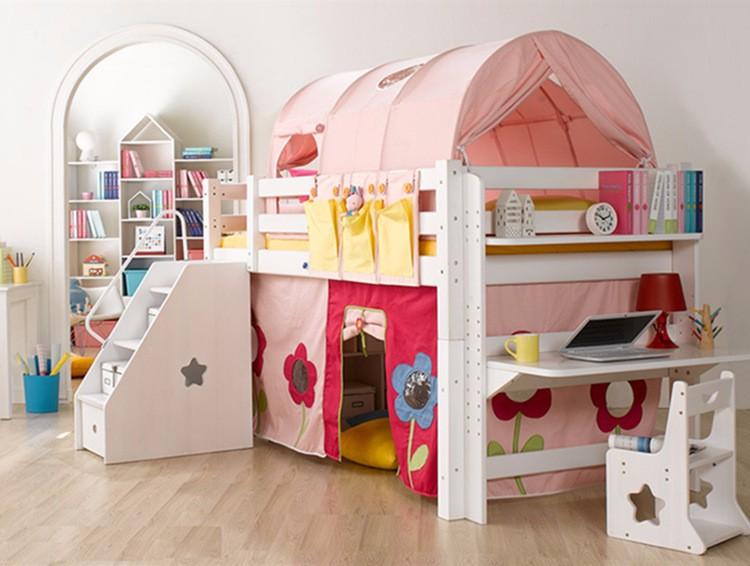 Tenda Tunnel Letto A Castello : Mobili per bambini colore rosa principessa castello tenda letto a