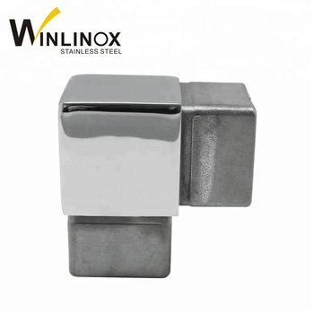 40 50mm Handrail Pipe Fittings 304 316 Ss Square Tube Connector 90 Degree  Joint - Buy Square Tube Connector 90 Degree,Square Tube Connector,Connector