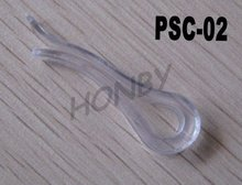 Crystal Clear Plastic Garment Clip for Shirt Accessory