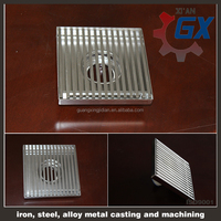stainless steel square 5/6/4/8 inch drain cover,shower floor drain cover