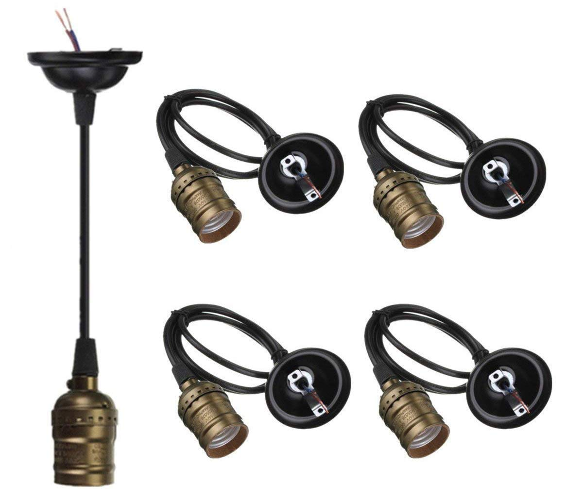 Cheap 3 Wire Lamp Socket Find Deals On Line At Wiring A Metal Holder Get Quotations Ctkcom E26 E27 Pendant Edison Vintage Holder4 Pack
