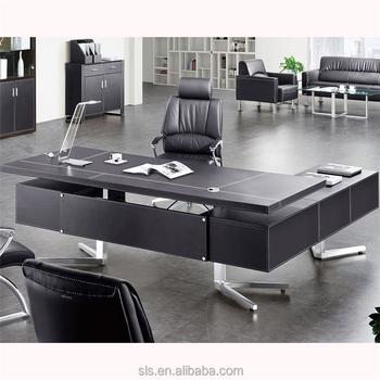 2018 Modern Office Furniture Stylish Melamine L Shaped Executive Desk Design