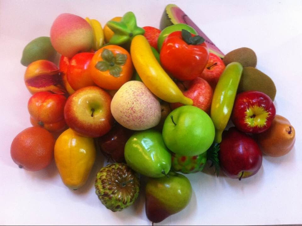 Beaded Artificial Fruits And Vegetables Assortment