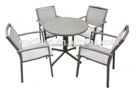Round Cast Table Outdoor Dining Table Set All Weather Outdoor Cast Aluminum Patio Furniture