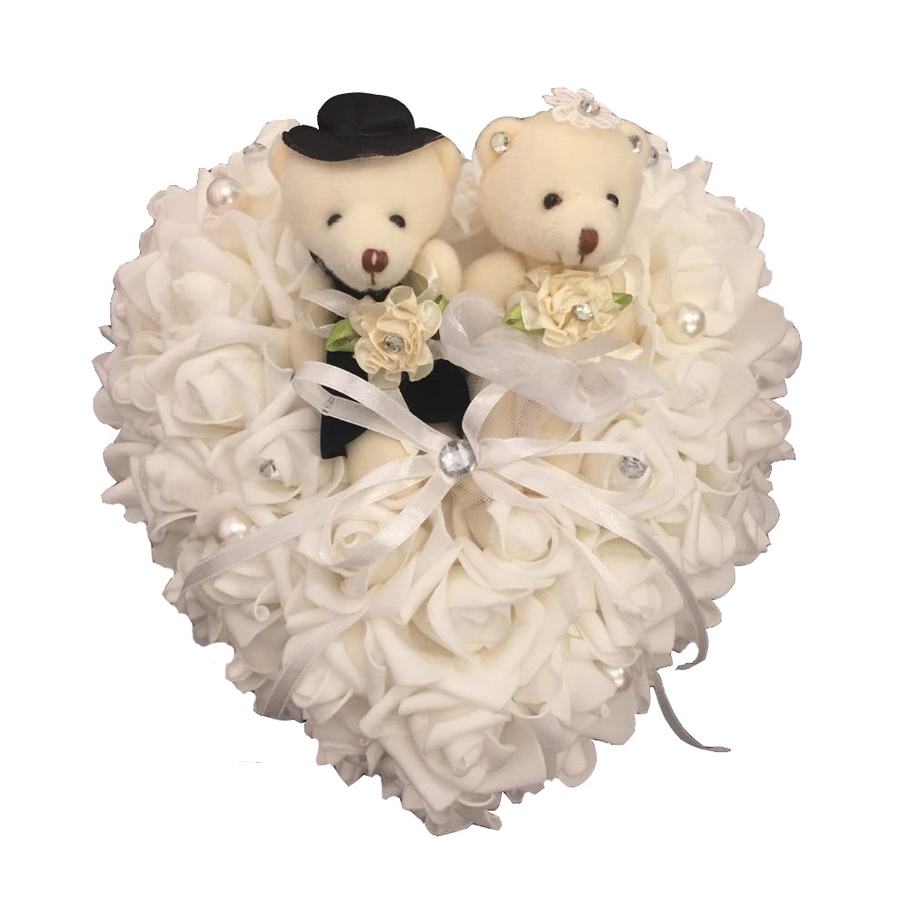 Buy Wedding Ring pillow Teddy Bear Wedding Favors Ring Box Heart ...