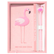 Custom printing cute mini a6 school flamingo diary notebook with pen
