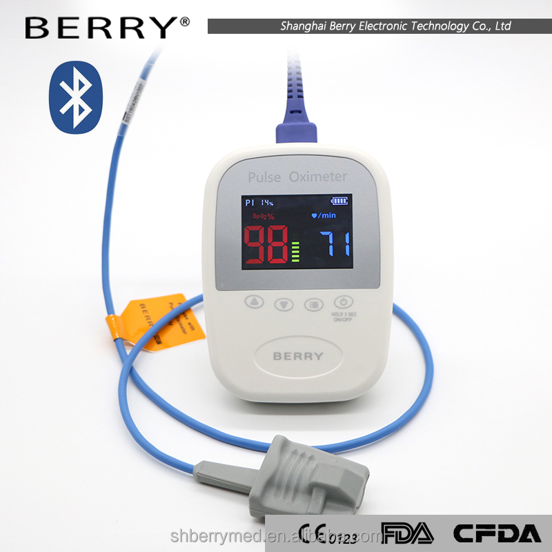 wired oled finger family digital thermometer and blood pressure monitor