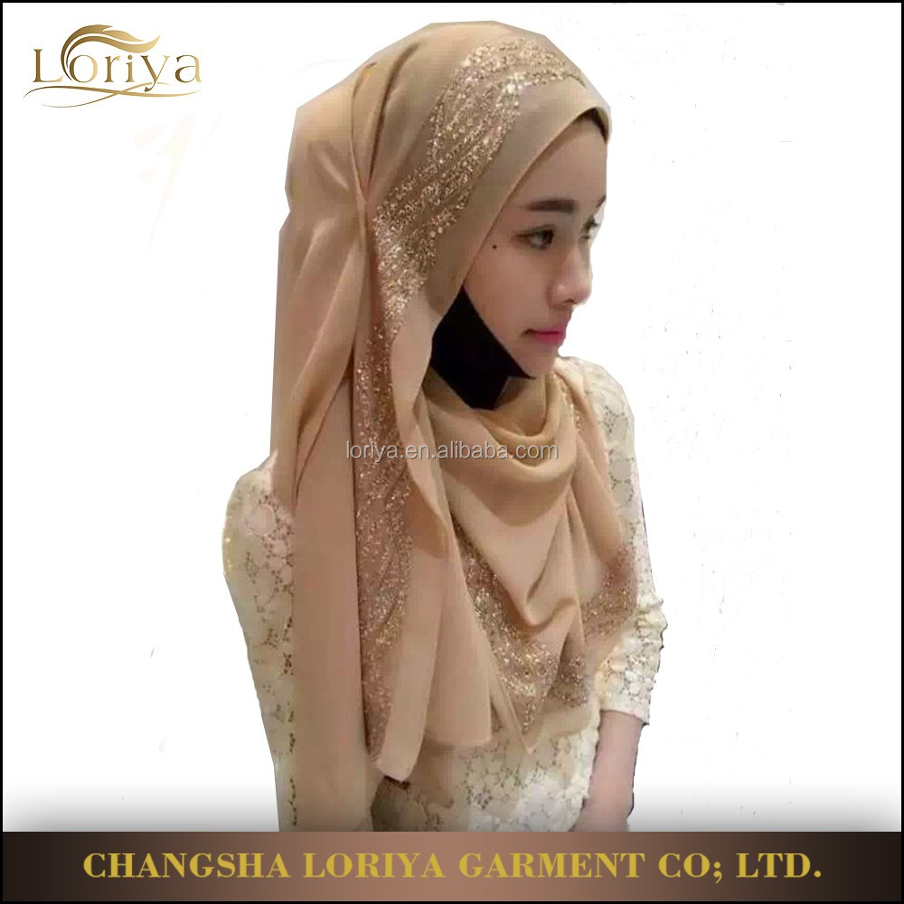 Wholesale new style women chiffon scarf hijab latest cheap fashion arabic malaysia square scarf