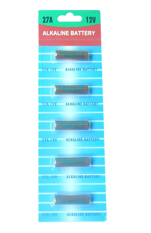 5 x A27 27A Key Remote Alkaline battery produced in 2015