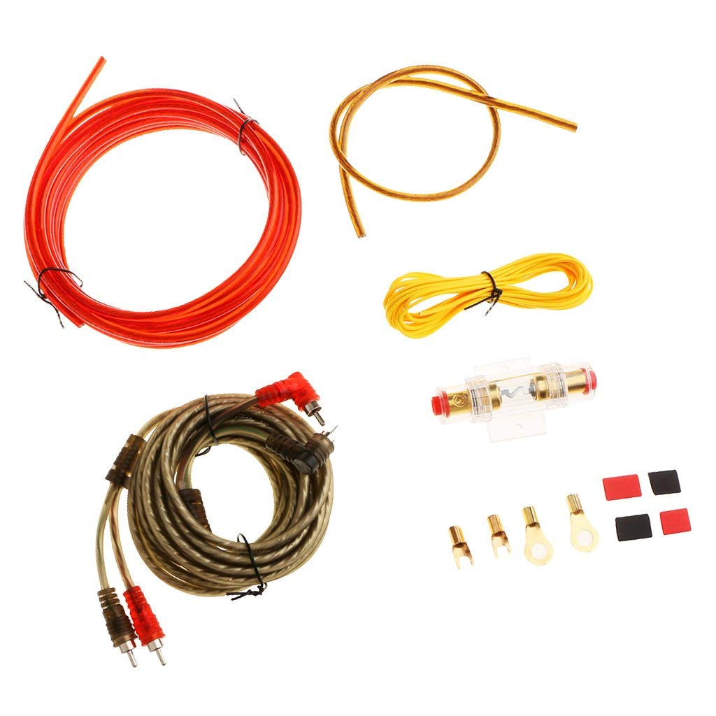 Buy Baoblaze Brand New Durable Car Audio Subwoofer Amplifier Wiring Kit Power Cable 10ga