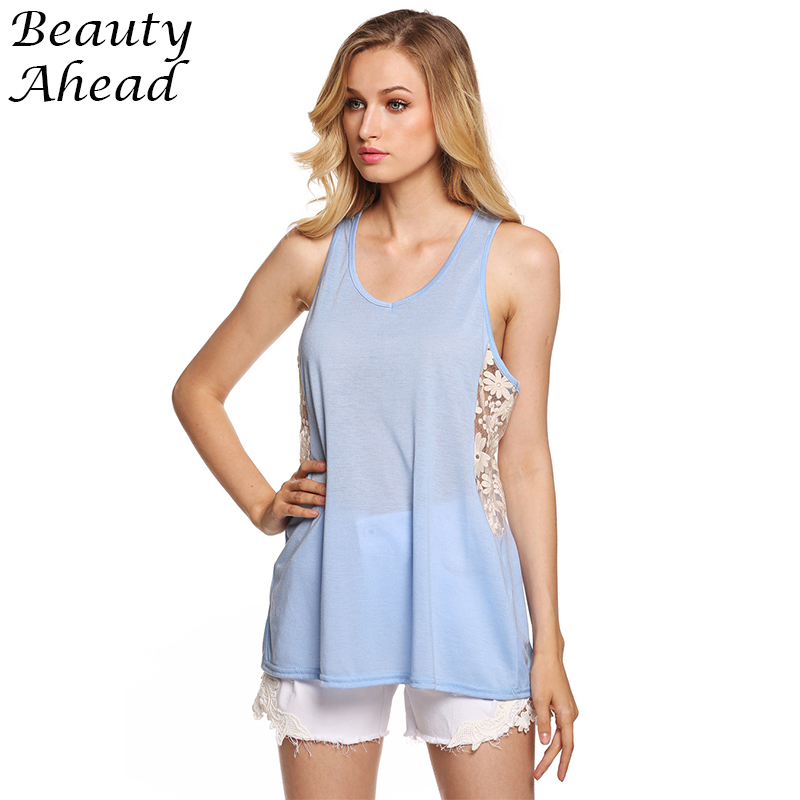 2389255cac87d Get Quotations · Women Tank Top New Fashion O-neck Lace Side Crochet Crop Top  Hollow Out Halter