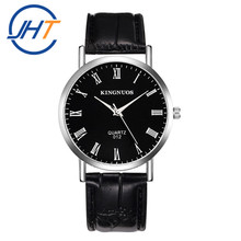 Popular stainless steel waterproof Leather wrist watches men Male Clock Wrist Watch Stainless Leather men's watch