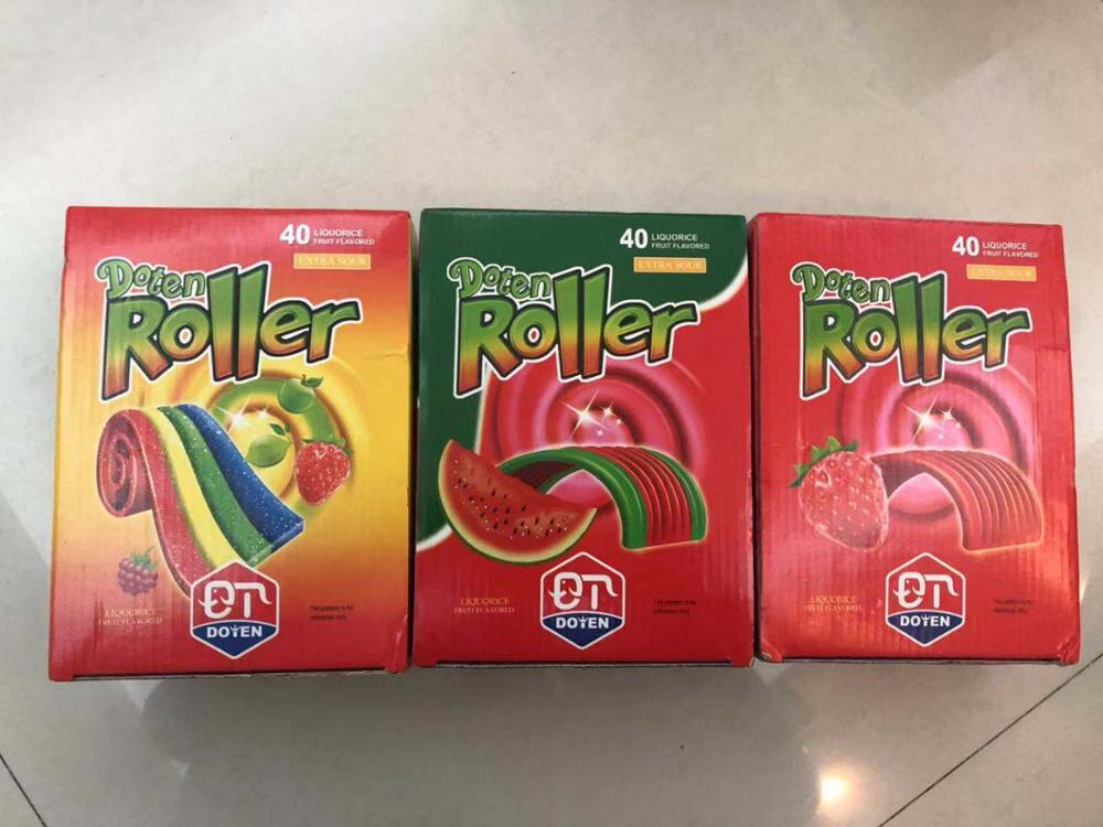 big tongue sour belt sugar coated jelly candy with fruit flavour