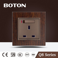 BS standard 13A 3 pin switch socket with neon nice design UK socket