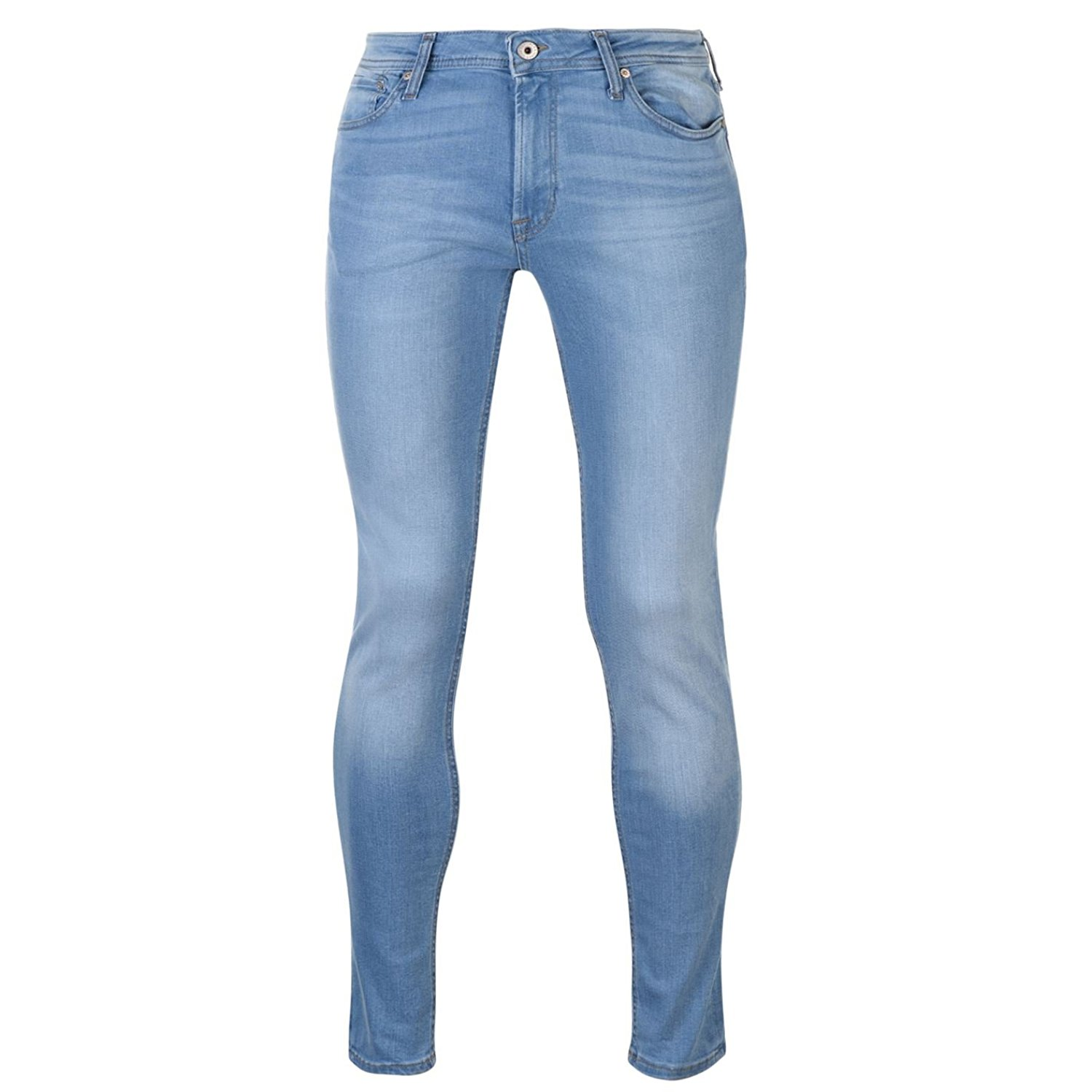 Get Quotations · Jack and Jones Mens Liam Jeans Skinny Fit Denim Trousers  Casual Pants Bottoms 3a698d65f