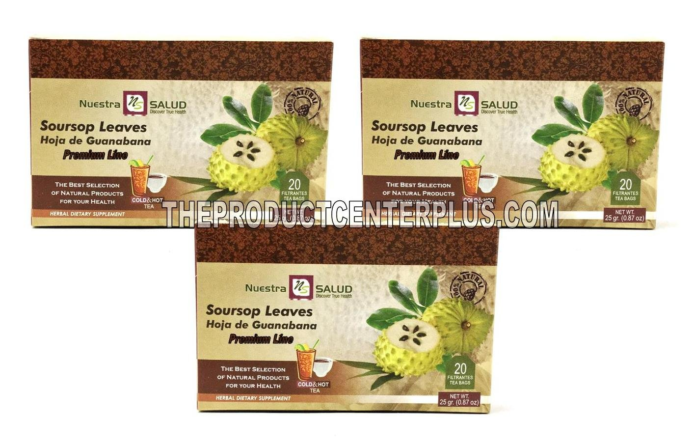 Soursop Leaves Filter Tea Bags Hoja de Guanabana Te (60 Tea Bags) 100% Natural