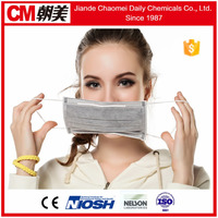CM Anti Mers 3-layer disposable plain plastic face mask in stock