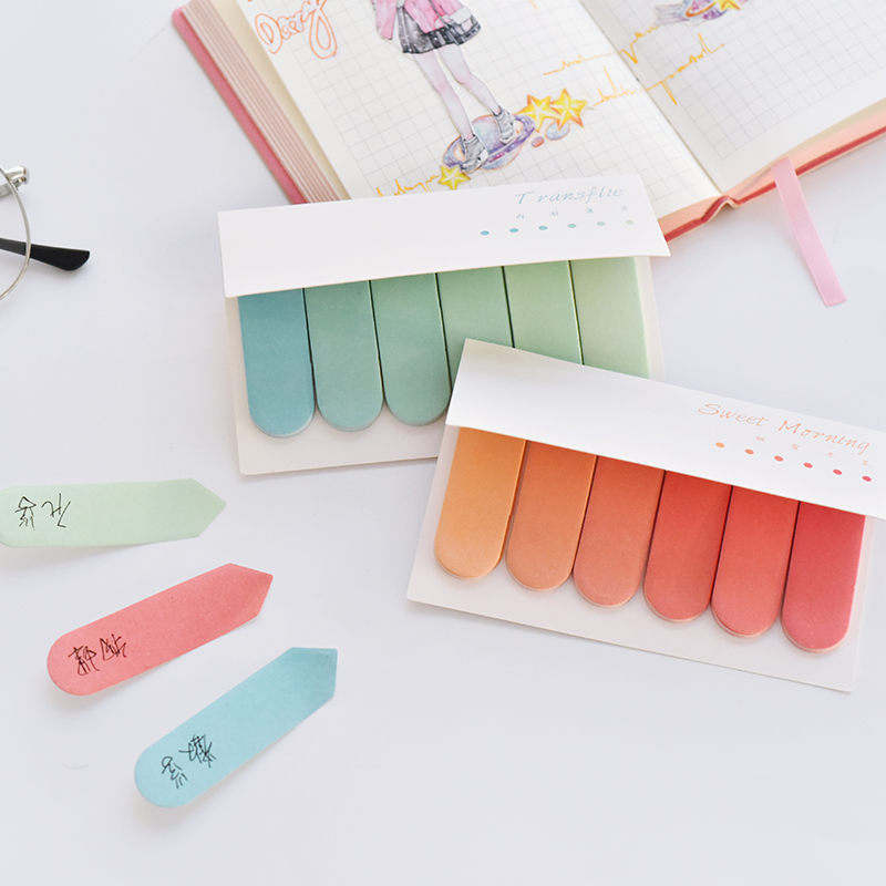Index pagina markers cardsCreative gradiënt Envelop stijl leuke divider sticky notes Mini Sticky Notes schattige koreaanse briefpapier