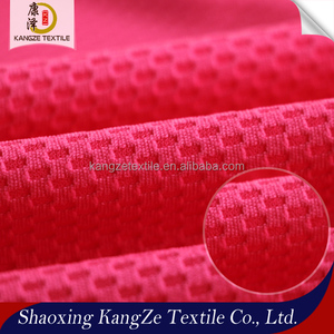 Cheap price honeycomb jersey fabric 100%polyester knit embossed interlock fabric