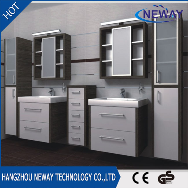 Wholesale melamine double lowes bathroom vanity combo