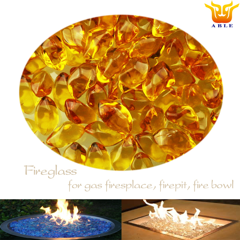 Outdoor gas fires Firepit glass fuelbed