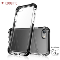 Mobile accessories Soft TPU PC 2 in 1 case for iPhone 8 plus clear case