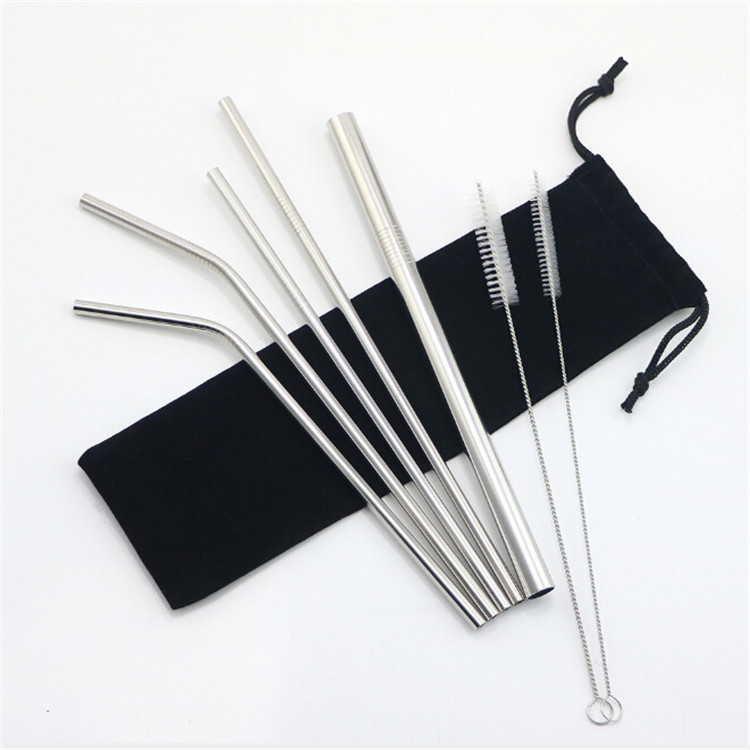 wholesale factory safe drinking metal straw stainless steel