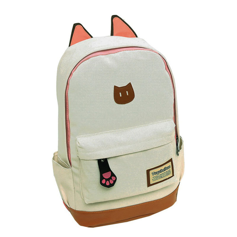 eb6f744b77 Fashion Women s Canvas Backpacks Student School Bags For Girl Teenagers  Casual Rucksack Satchel