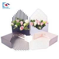 High quality custom printing flower envelope paper box