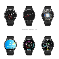 Full Round OLED HD Touch Screen MTK6580 BT4.0 3G dual sim wifi Android Smart Watch KW88 KW18 Z50 smart watch phone