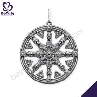 Good charms nautical wheel shape silver chic surf jewelry