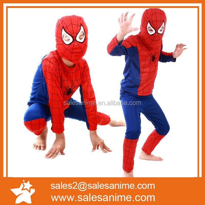 child Halloween costume Spiderman clothes tights Superman Bat man Zorro black suit