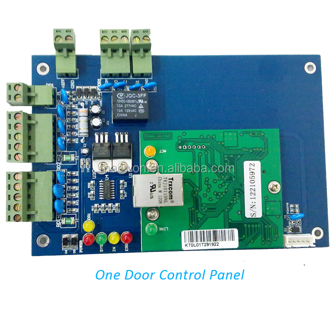 Dc 12v Network Tcp/ip Access Control Panel Board Reader For Wiegand 4 Door Use Access Control