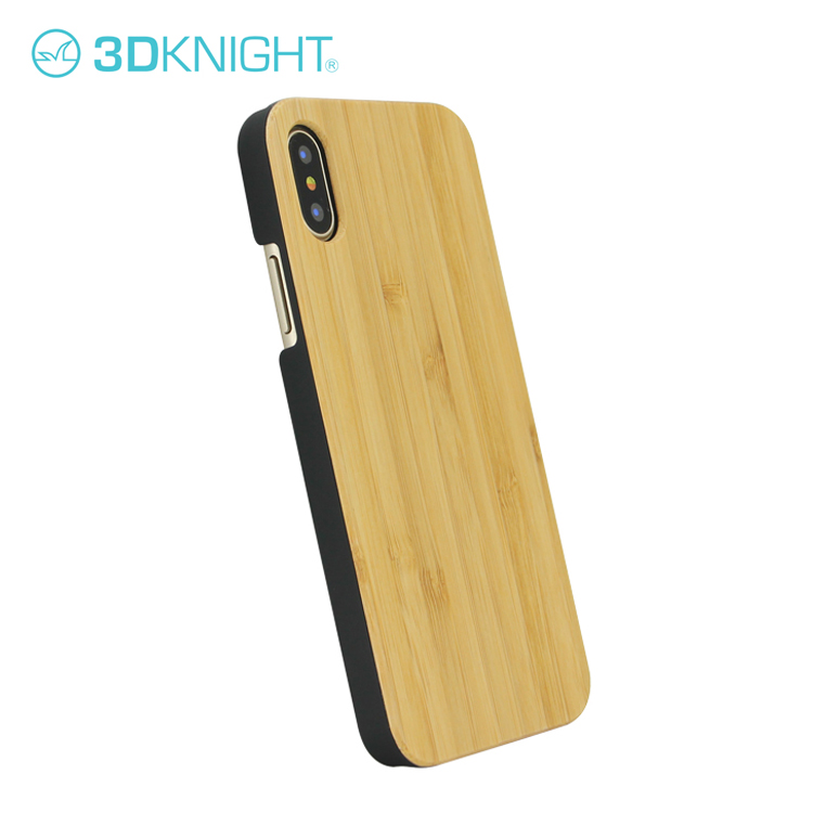 Custom Logo Shockproof Real Bamboo Wood Case For iPhone X
