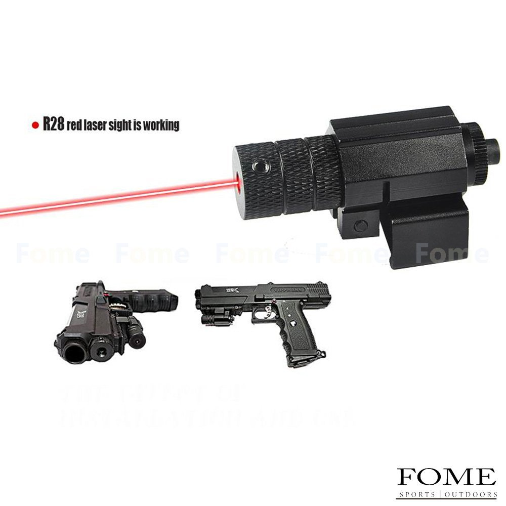 Laser Sight,ISHOWDEAL Mini Red Dot Laser Sight With Tail Switch Compact Tactical Adjustable Red laser/Gun Red Laser/Gun-Sights Beam Dot Sight Scope For Pistol/handgun Picatinny Rail