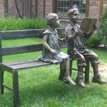 Enjoyable Outdoor Two Kids Sitting On The Bench Bronze Statue For Decoration Buy Bronze Kids Statue Bronze Figure Statue Garden Bronze Bench Statue Product On Pabps2019 Chair Design Images Pabps2019Com