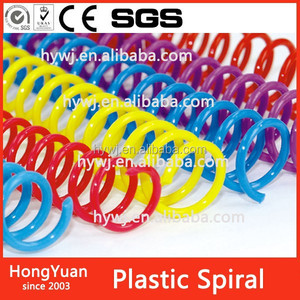 14mm Plastic spiral coil binding for notebook in Shenzhen