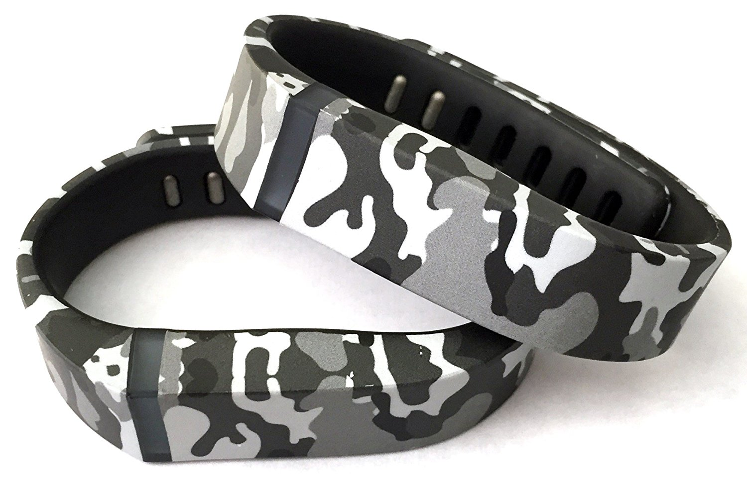 2pcs Small Camouflage Camo Army Military Color Replacement Bands With Clasp for Fitbit FLEX Only /No tracker/ Wireless Activity Bracelet Sport Wristband Fit Bit Flex Bracelet Sport Arm Band Armband