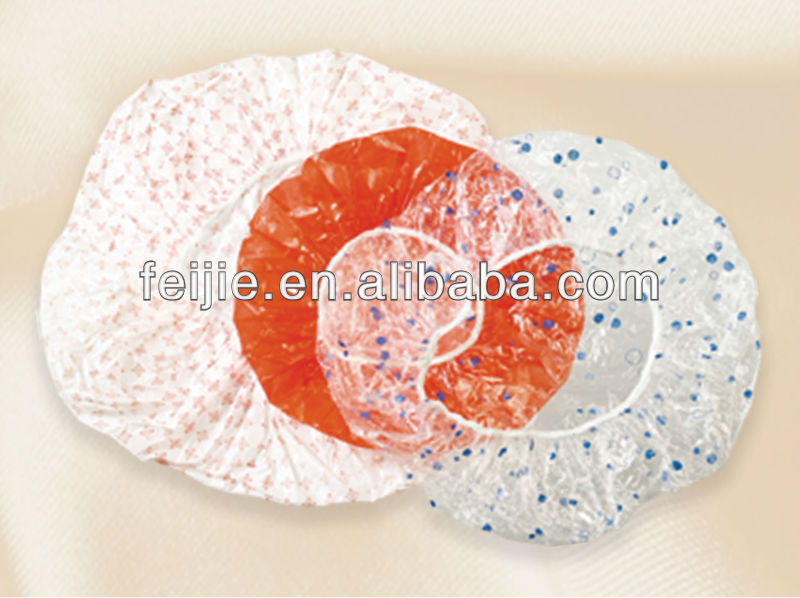 beautiful hotel disposable shower cap with floral