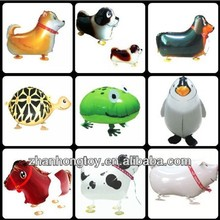 china supplier various size and designs new toy foil walking pet balloons