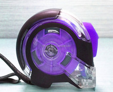 Purple segments industry tape measure with amplified returning spring