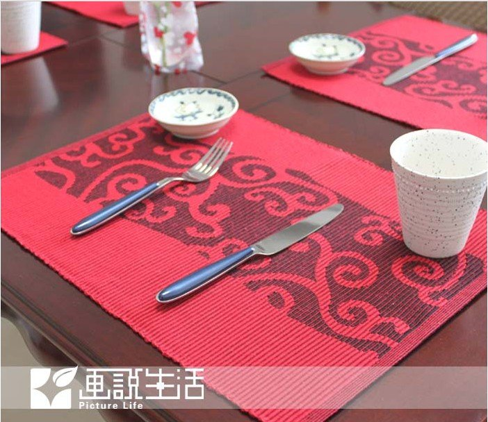 Fashion Fabric Dining Table Mat Cloud Placemats